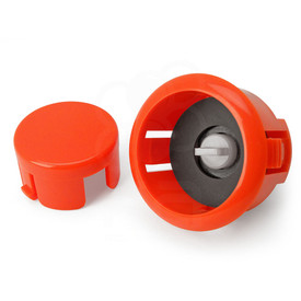 Sanwa OBSFS Silent 30mm Pushbuttons: Vermillion