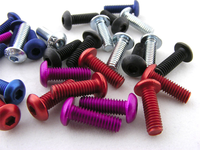 M4x12mm screws available in several colors, including black, stainless steel, and anodized colors
