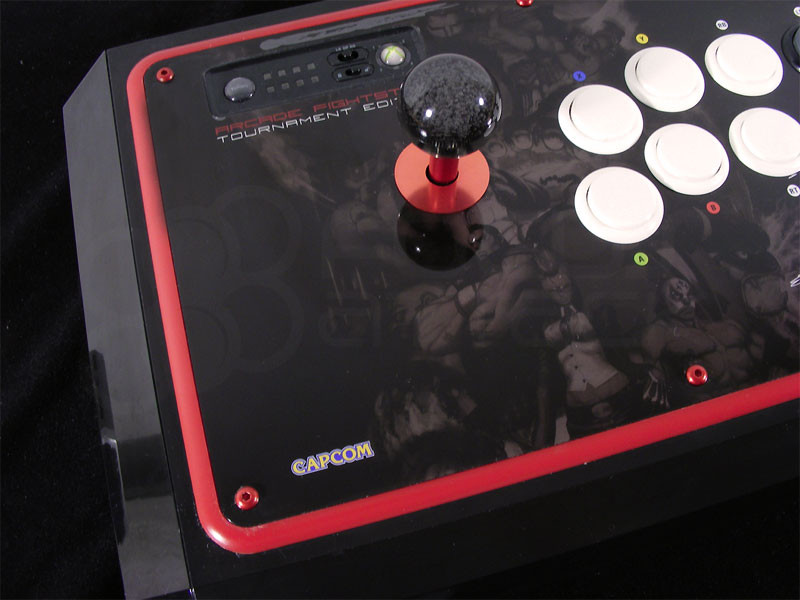 M4x12mm screws installed into MadCatz® Tournament Edition joystick