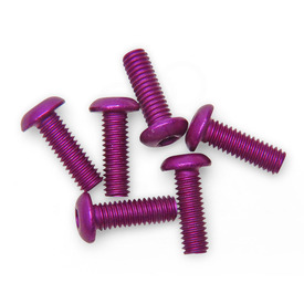 M4x12mm TE Plexiglass Screws (Set of 6) - Anodized Purple