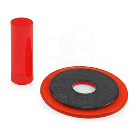 Sanwa JLF-CD Translucent Red Shaft & Matching Dustwasher Set
