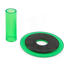 Sanwa JLF-CD Translucent Green Shaft & Matching Dustwasher Set