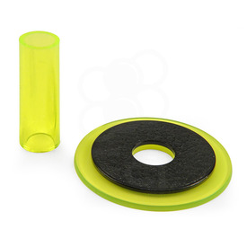 Sanwa JLF-CD Translucent Yellow Shaft & Matching Dustwasher Set