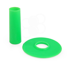 Seimitsu Solid Color Green Shaft & Matching Dustwasher Set