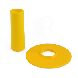 Seimitsu Solid Color Yellow Shaft & Matching Dustwasher Set