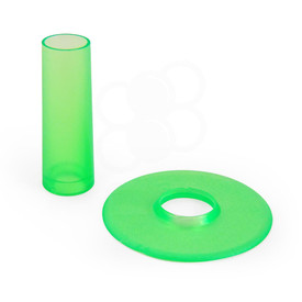Seimitsu Translucent Color Green Shaft & Matching Dustwasher Set