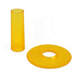 Seimitsu Translucent Color Yellow Shaft & Matching Dustwasher Set
