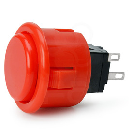 Seimitsu PS-14-D 24mm Pushbutton Red