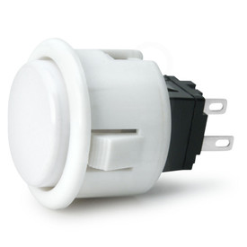 Seimitsu PS-14-D 24mm Pushbutton White