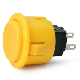 Seimitsu PS-14-D 24mm Pushbutton Yellow