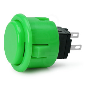Seimitsu PS-14-D 24mm Pushbutton Green