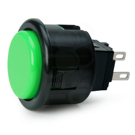 Seimitsu PS-14-D 24mm Pushbutton Green/Black