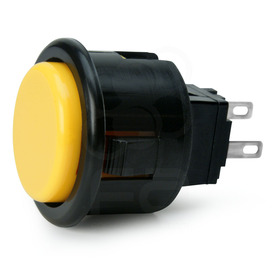 Seimitsu PS-14-D 24mm Pushbutton Yellow/Black