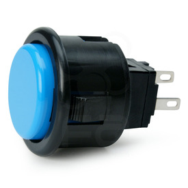 Seimitsu PS-14-D 24mm Pushbutton Light Blue/Black