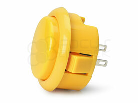 Seimitsu PS-15 Low Profile Pushbutton Yellow