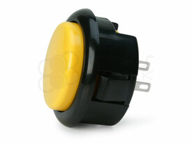 Seimitsu PS-15 Low Profile Pushbutton Yellow/Black