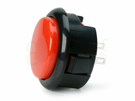 Seimitsu PS-15 Low Profile Pushbutton Red/Black