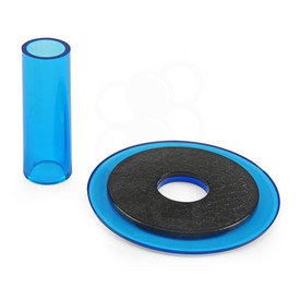 Sanwa JLF-CD Blue Shaft & Matching Dustwasher Set
