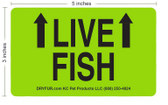 Live fish labels