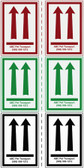 Customizable Arrow Shipping Labels In Green Red Black