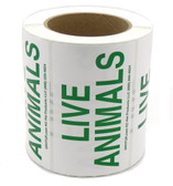 Roll 500 Live Animal Shipping Labels Green IATA