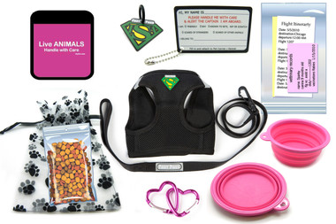 Pet Airline Traveling Kit for In Cabin - Pink