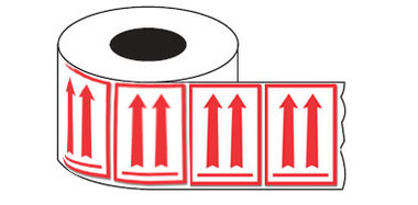Roll of Red Arrow Labels
