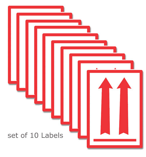 red iata red arrow labels 10pk dryfur pet airline travel supplies