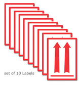10pk of RED Arrow Shipping Labels