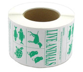 Roll of 500 IATA Live Animal Species Labels