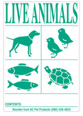 6pk IATA Live Animal Species Shipping Labels