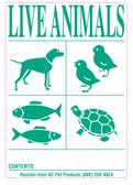6pk IATA Live Animal Species Shipping Labels