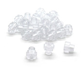 (25)  BULK Clear Polycarbonate See Thru Knurled Thumb Nuts