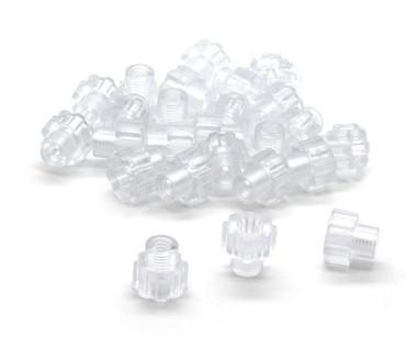 (25)  BULK Clear Polycarbonate See Thru Knurled Thumb Nuts
