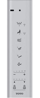 toto washlet s550e remote control