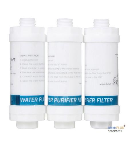 Bidet Carbon Water Filters 3 Pack , Bidet Seat Carbon Water Filters 3 Pack , Bidet Toilet Seat Carbon Water Filters 3 Pack