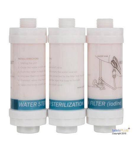 Bidet Iodine Water Filters 3 Pack , Bidet Seat Iodine Water Filters 3 Pack , Bidet Toilet Seat Iodine Water Filters 3 Pack