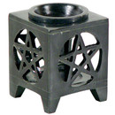 Square Pentacle Soap Stone Oil Burner