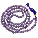 "Amethyst Prayer Mala - 108 Beads 36"""