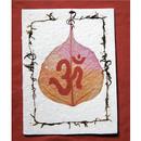 Bodhi Leaf Om Card