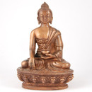 Copper Tone Enlightened Buddha