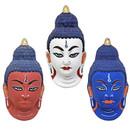 Paper Mache Buddha Mask