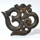 Carved Wood Extra Large Om