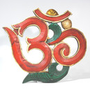 Carved Wood Om Medium