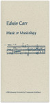 Music or Musicology
