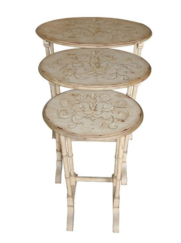 Oval Cream Nesting Tables