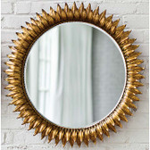 Regina Andrew Round Sun Flower  Mirror-Antique Gold