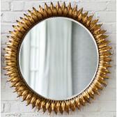 Regina Andrew Round Sun Flower  Mirror-Antique Gold