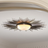 Global Views Sunburst Light Fixture-Nickel