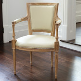 Global Views Marilyn Arm Chair-Ivory Leather